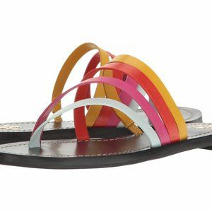 Tory Burch Patos leather Strappy Flat Sandals 7.5